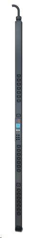 APC Rack PDU 2G, Metered-by-Outlet, ZeroU, 11.0kW, 230V, (21)C13 & (3)C19, IEC-309 16A 3P+N+PE 1.8m