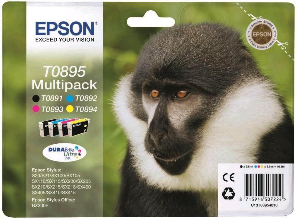 EPSON ink čer+bar Stylus S20/SX100/SX200/SX400 (T0895) (C13T08954010)