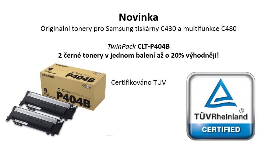 Samsung CLT-P404B 2-pk Blk Toner Crtg (SU364A)