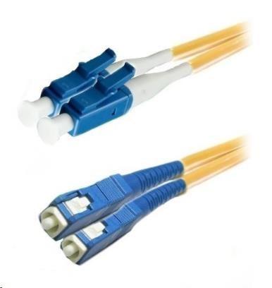 Duplexní kabel 9/125, LC-SC, LS0H (LSZH), 1m (DPX-09-LC/SC-1)