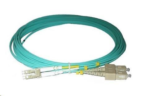 Duplexní kabel 50/125, OM3, LC-SC, 1m (DPX-50-LC/SC-OM3-1)