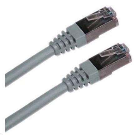 Patch kabel Cat6A, S-FTP - 3m, šedý (PK-SFTP6A-030-GR)