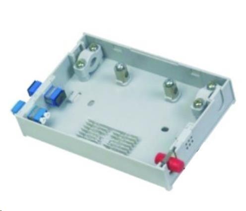 Optický mini rozvaděč, 4 porty, 1x průchozí kabel, 6 svarků, ST/SC/Duplex LC/pigtaily, stupačkové/průběžné (ORS-416A)