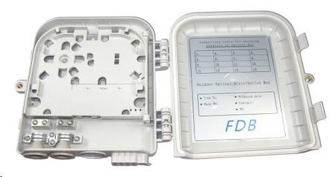 Optický plastový rozvaděč pro 16 odboček, 2 kabelové porty, vodotěsný, cívka (ORSW-208-SCS)
