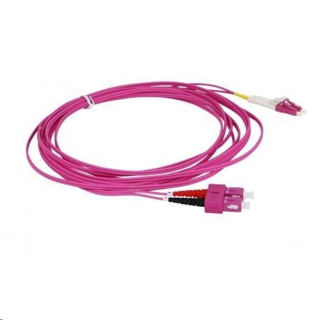 Duplexní kabel 50/125, OM4, SC-LC, 2m (DPX-50-LC/SC-OM4-2)
