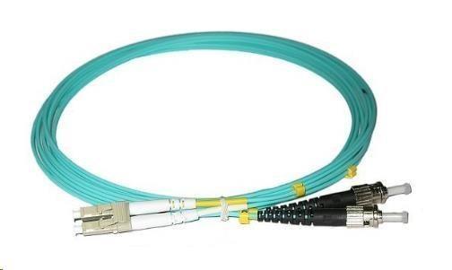 Duplexní kabel 50/125, OM3, LC-ST, 3m