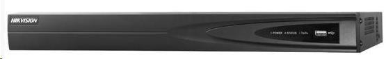 HIKVISION NVR, 16 kanálů, 2x HDD (až 16TB), 4K UHD, 2x USB, 1xHDMI a 1xVGA výstup, 4x DI / 1x DO, audio in/out (DS-7616NI-I2)