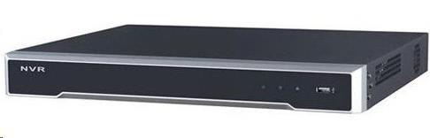 HIKVISION NVR, 16 kanálů, 4K, 16xPoE(200W), 2x HDD (až 16TB), 2x USB, 1xHDMI a 1xVGA výstup, 4x DI / 1x DO, audio in/out (DS-7616NI-K2/16P)
