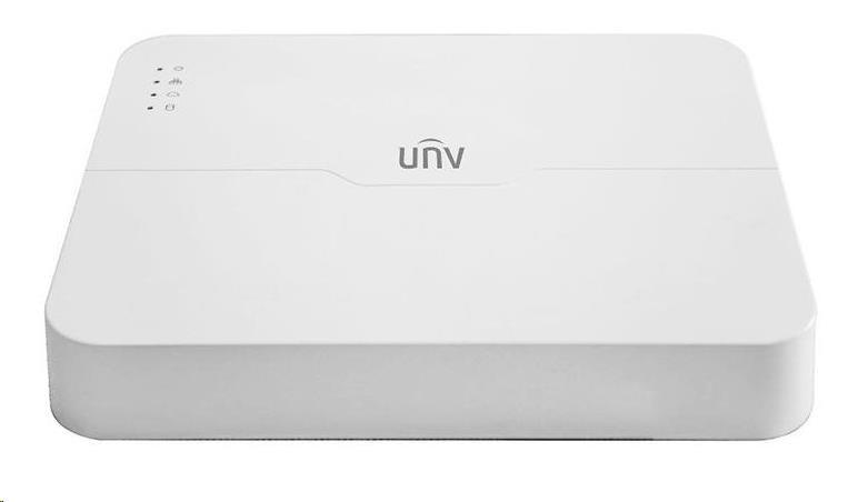Uniview NVR, 8 PoE (Max 108W) kanálů, H.265, 1x HDD, 8Mpix (60Mbps/64Mbps), HDMI, VGA, 2x USB 2.0, audio