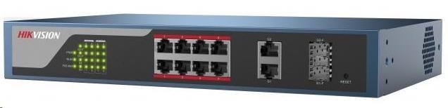 HIKVISION DS-3E1310P-E (8+2) PoE switch 2x 1000Mbit, 8x 10/100Mbit PoE Plus, IEEE802.3at