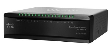 Cisco switch SF110D-16HP, 16-Port 10/100, desktop, kov, PoE (SF110D-16HP-EU)