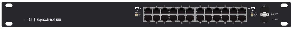 UBNT EdgeSwitch ES-24-500W [26Gbps, 500W, aktivní (802.3af/at) i pasivní (24V) PoE, 2xSFP, L2/L3]