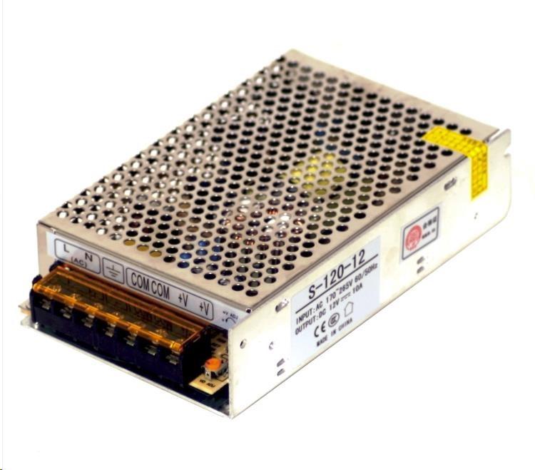 MikroTik průmyslový impulsní zdroj 12V, 10A, 120W (S-120-12)