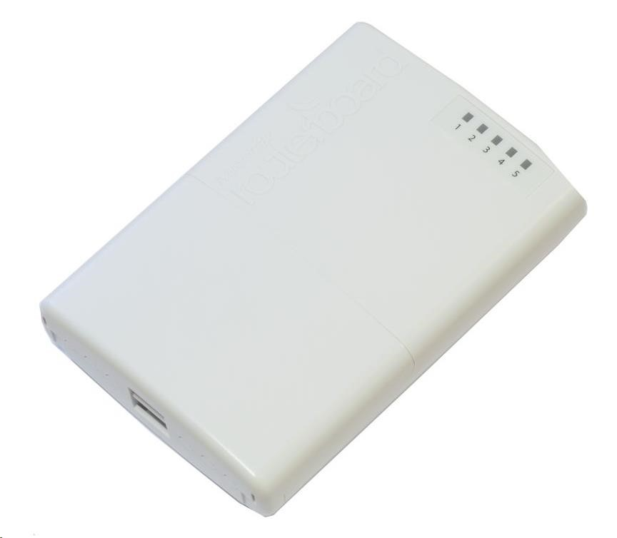MikroTik RouterBOARD PowerBox, 650MHz CPU, 64MB RAM, 5x LAN, PoE IN/OUT, vč. L4 licence (RB750P-PBr2)