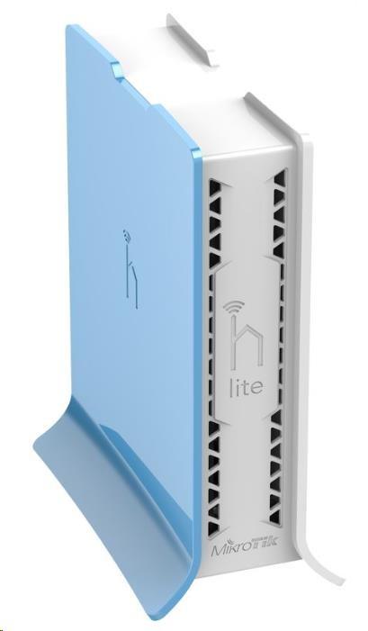 MikroTik hAP Lite (tower), 650MHz CPU, 32MB RAM, 4x LAN, integr. 2.4GHz Wi-Fi, WPS, vč. L4 (RB941-2nD-TC)