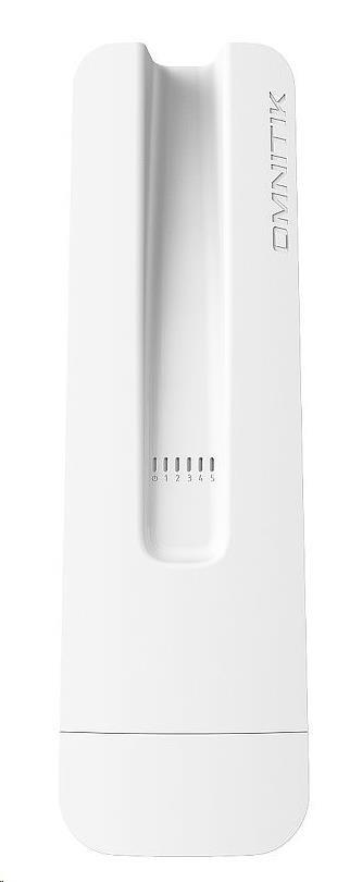 MikroTik RouterBOARD OmniTik 5 ac PoE, 720MHz CPU, 128MB RAM, PoE out,5x GLAN,5GHz Wi-Fi, 2x7.5dBi, 802.11a/n/ac, vč. L4 (RBOmniTikPG-5HacD)