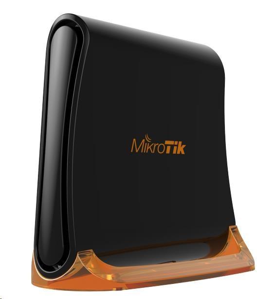 MikroTik hAP mini (tower), 650MHz CPU, 32MB RAM, 3 xLAN, integr. 2.4GHz Wi-Fi, WPS, vč. L4 (RB931-2nD)