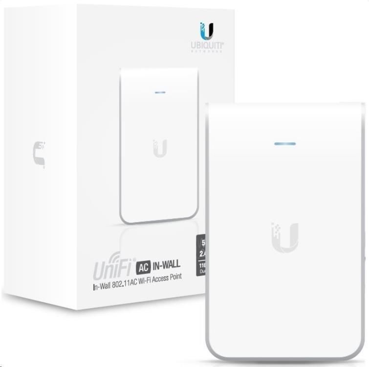 UBNT UniFi AP AC In Wall PRO [vnitřní AP, 2.4GHz(450Mbps)+5GHz(1300Mbps), 3x3 MIMO, 802.11a/b/g/n/ac] (UAP-AC-IW-PRO)