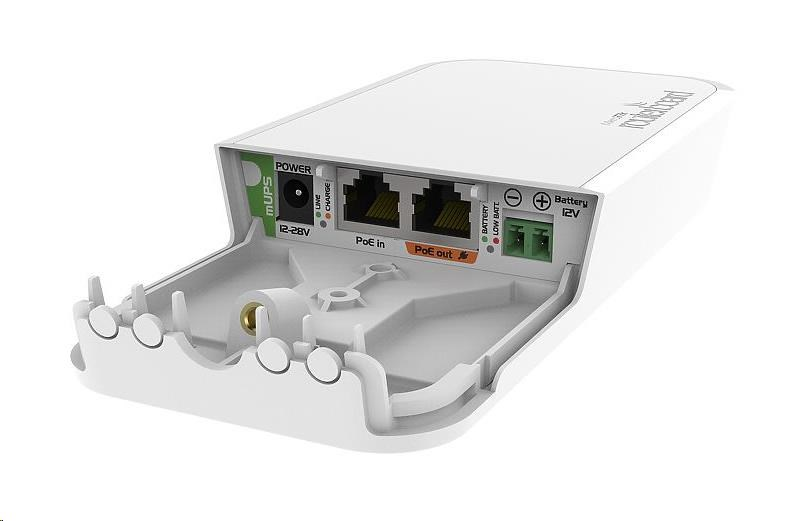 MikroTik mUPS, PoE injektor s možností 12V bateriové zálohy