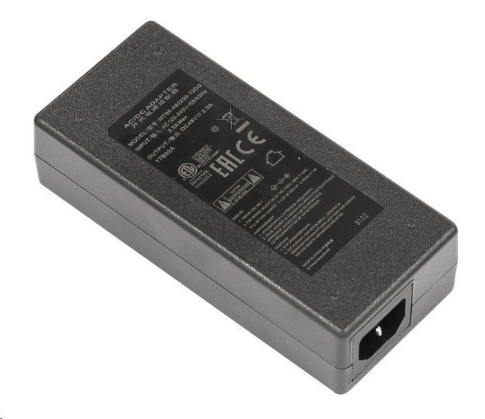 MikroTik 48V2A96W - napájecí adaptér 48V, 2A, napájecí kabel