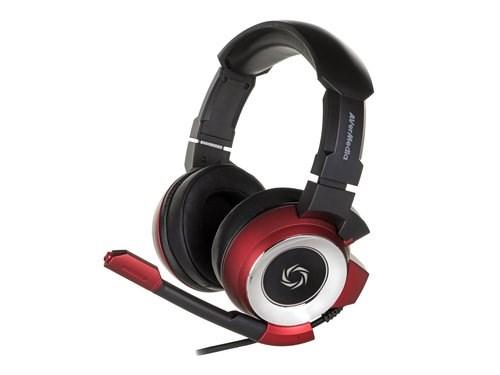 AVERMEDIA SonicWave 7.1 GH337 (Red), herní sluchátka s mikrofonem