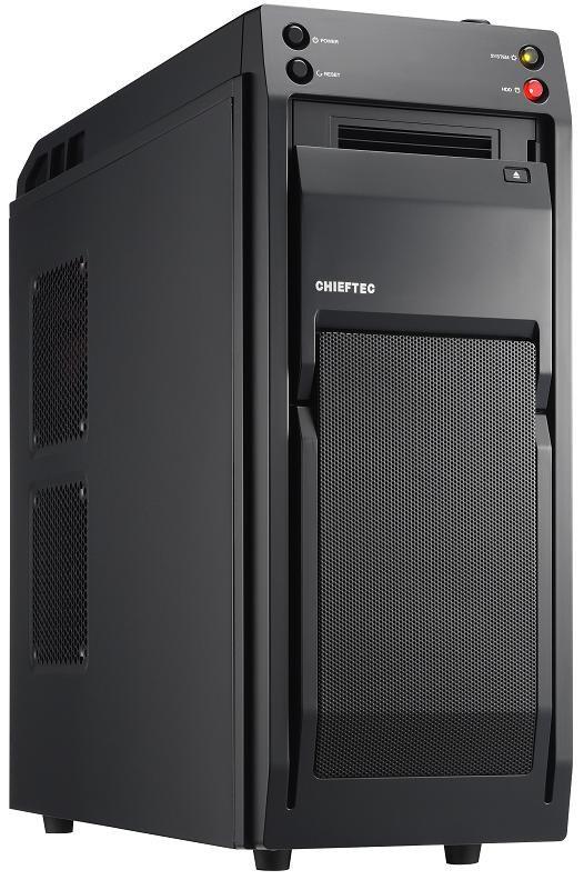 CHIEFTEC skříň Libra Series/Miditower, LF-01B-OP, Black, USB 3.0, bez zdroje