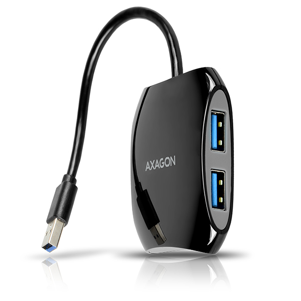 AXAGON HUE-S1B 4x USB3.0 QUATTRO hub, 16cm kabel