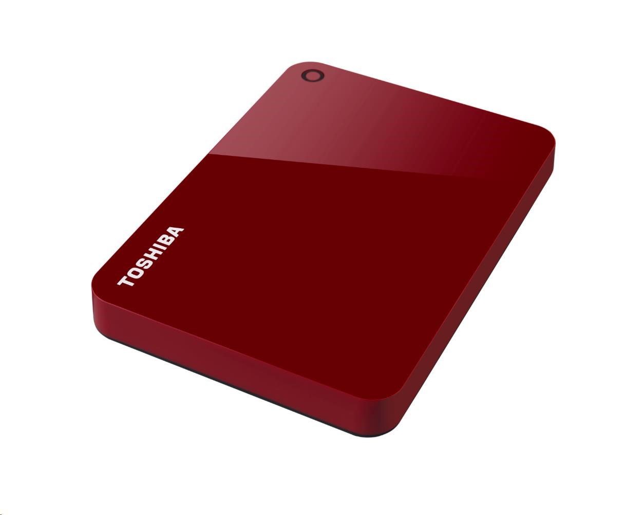 "TOSHIBA HDD CANVIO ADVANCE 1TB, 2,5"", USB 3.0, červený"