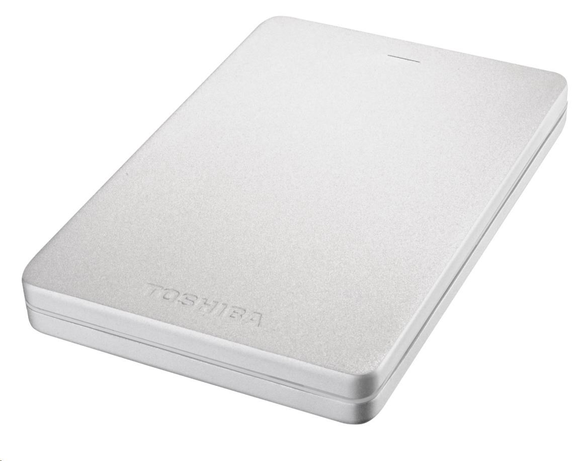 """TOSHIBA HDD CANVIO ALU 1TB, 2,5"""", USB 3.0, stříbrný"""