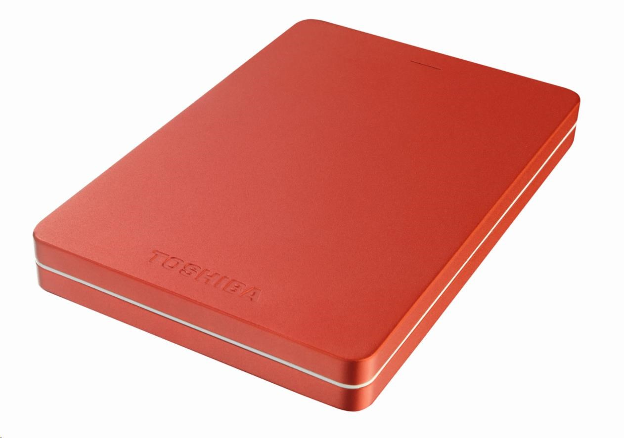 """TOSHIBA HDD CANVIO ALU 1TB, 2,5"""", USB 3.0, červený"""