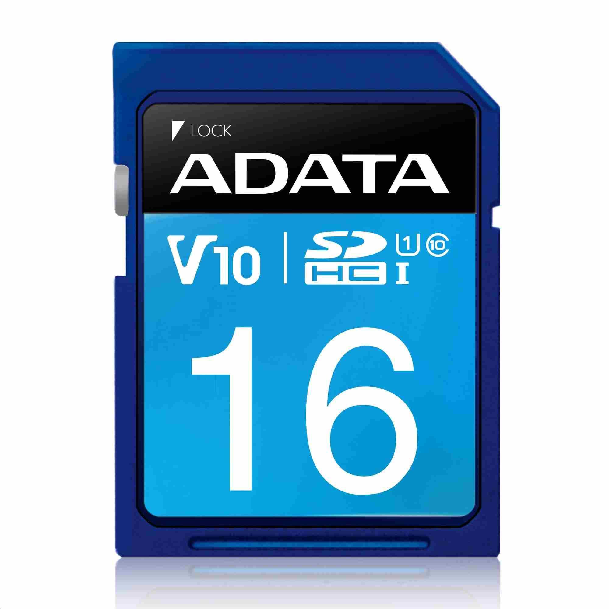 ADATA SDHC karta 16GB UHS-I Class 10, Premier (ASDH16GUICL10-R)