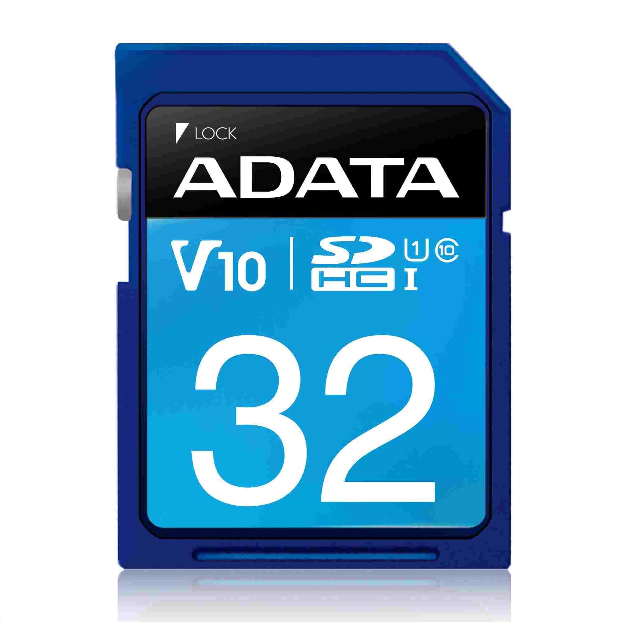 ADATA SDHC karta 32GB UHS-I Class 10, Premier (ASDH32GUICL10-R)