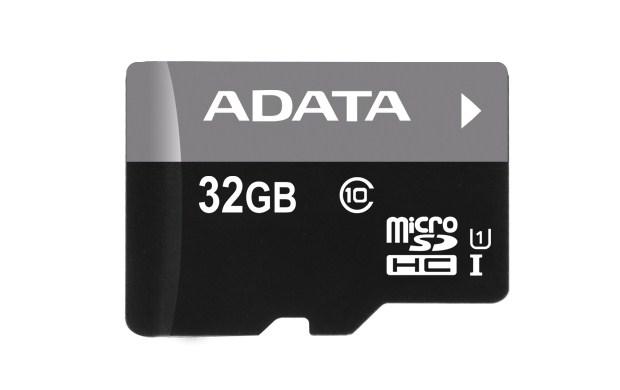 ADATA Micro SDHC karta 32GB UHS-I Class 10 + SD adaptér, Premier (AUSDH32GUICL10-RA1)