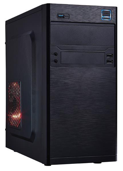 EUROCASE skříň MC X202 black, micro tower, 2xAU, 2x USB 2.0, 1x USB 3.0 (MCX202B00)