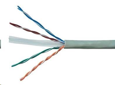 UTP kabel Elite, Cat6, drát, PVC, 305m box (KAB-SLD-UTP6-GR)