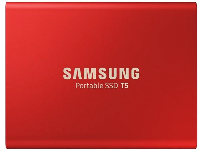 Samsung Externí SSD disk - 1 TB - červený