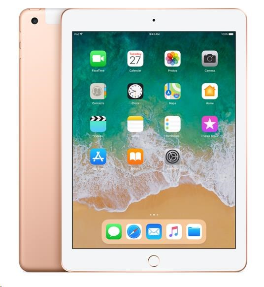 APPLE iPad Wi-Fi + Cellular 128GB - Gold (verze 2018/03) mrm22fd/a