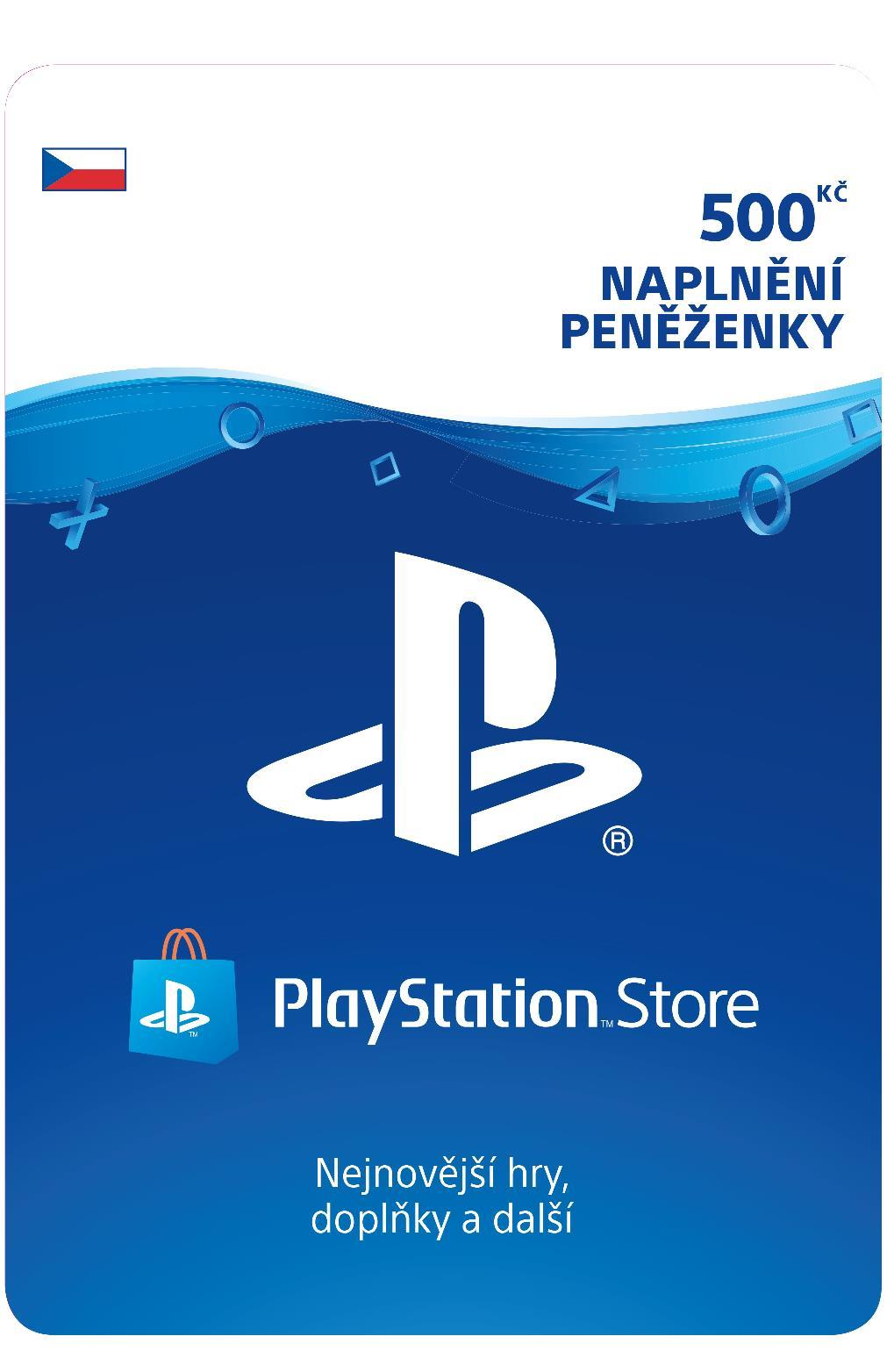 SONY PlayStation Live Cards Hang 500,- CZK (PS719894339)