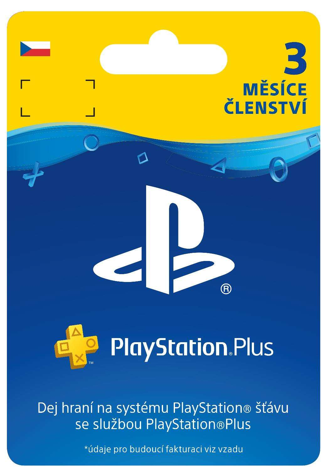 SONY PlayStation Plus Card Hang 90 dní (CZE) (PS719810742)
