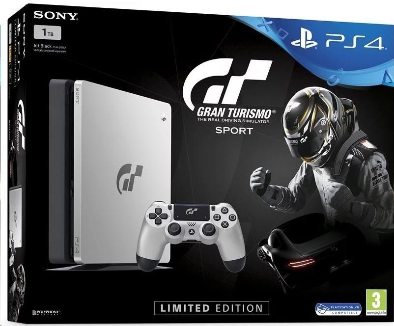 SONY PlayStation 4 1TB - černý + Gran Turismo Sport Speciální edice + That's You + PS Plus 14 dní (PS719909767)