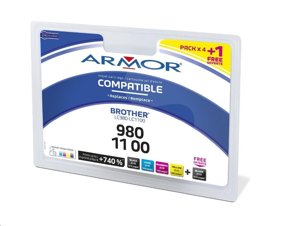 ARMOR cartridge pro BROTHER DCP-145C, JUMBO, 2BK+1C+1M+1Y (B10171R1)
