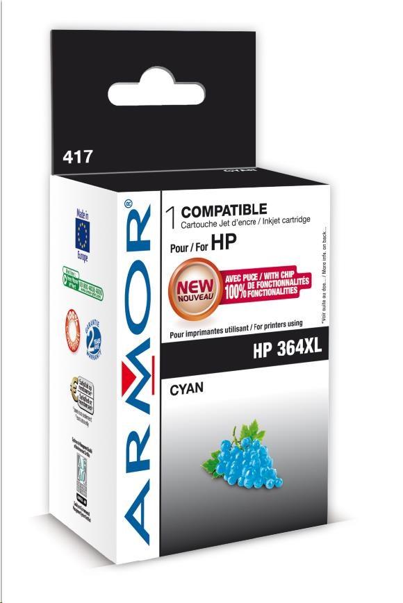 ARMOR cartridge pro HP Photosmart B8550 cyan, 12ml, No.364XL (CB323EE) (K12573)