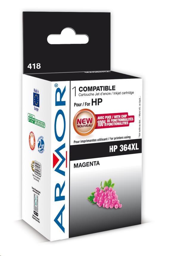 ARMOR cartridge pro HP Photosmart B8550 magenta, 12ml, No.364XL (CB324EE) (K12574)