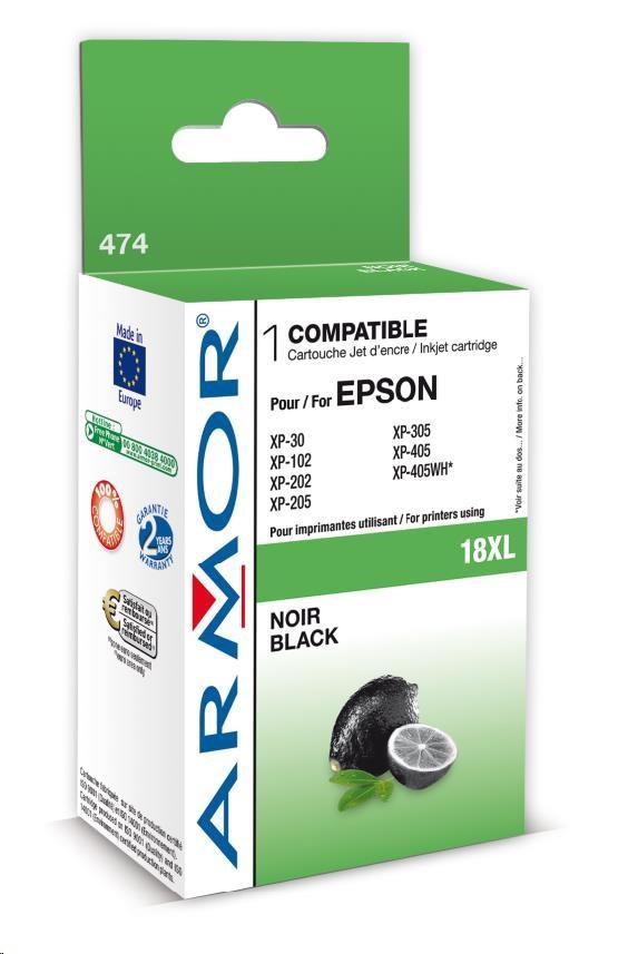 ARMOR cartridge pro EPSON XP102/402 Black (C13T18114010),12ml, 18XL (K12614)