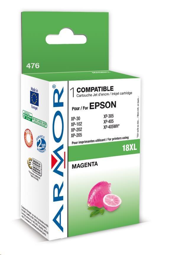 ARMOR cartridge pro EPSON XP102/402 Magenta (C13T18134010) 9ml, 18XL (K12616)