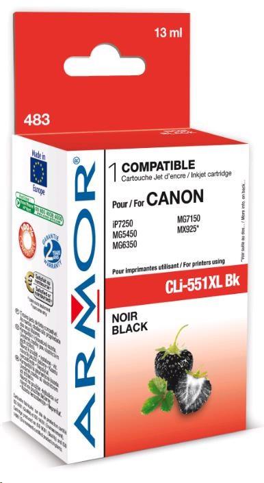 ARMOR cartridge pro CANON Pixma MG5450, IP7250 (CLi551XLBK) black 13ml (K12624)
