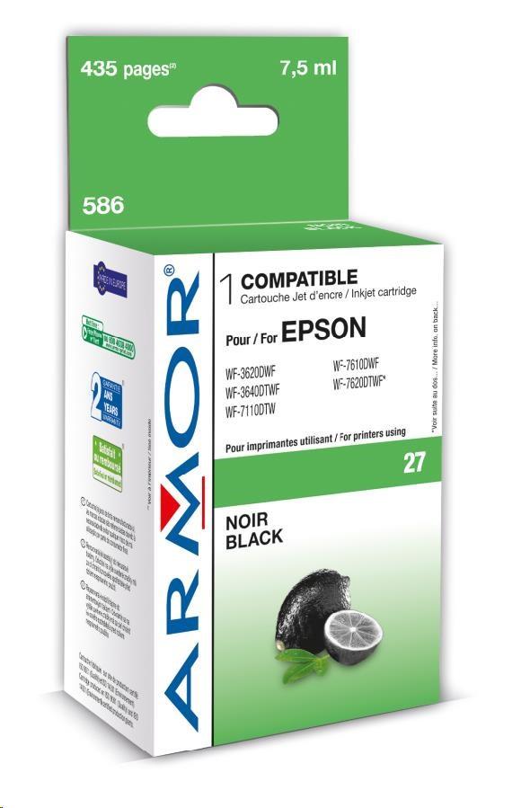 ARMOR cartridge pro EPSON WF 3620 černý 7,5 ml, (T27014010) (K12660)