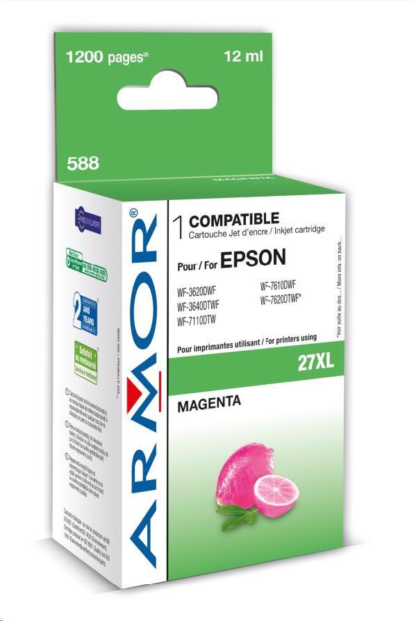 ARMOR cartridge pro EPSON WF 3620 magenta,12ml, (T27134010) (K12662)