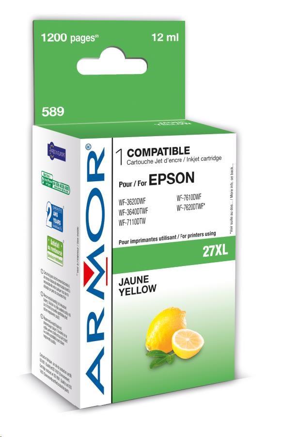 ARMOR cartridge pro EPSON WF 3620 yellow, 12ml, (T27144010) (K12663)