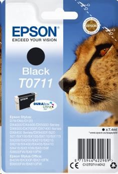 EPSON ink čer Singlepack Black T0711 DURABrite Ultra Ink (7,4 ml) (C13T07114012)